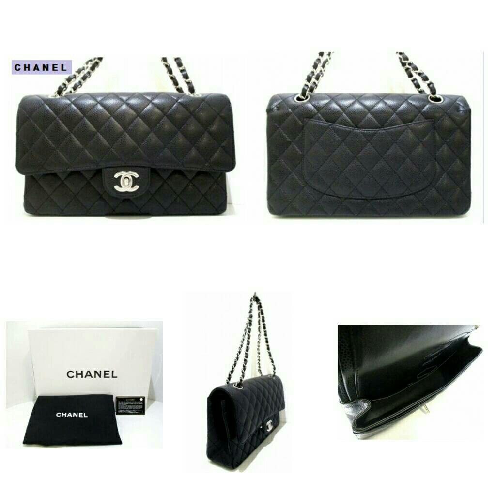 35aee63e81ac Chanel Mini Flap Caviar Silver Hardware, Luxury, Bags & Wallets on ...