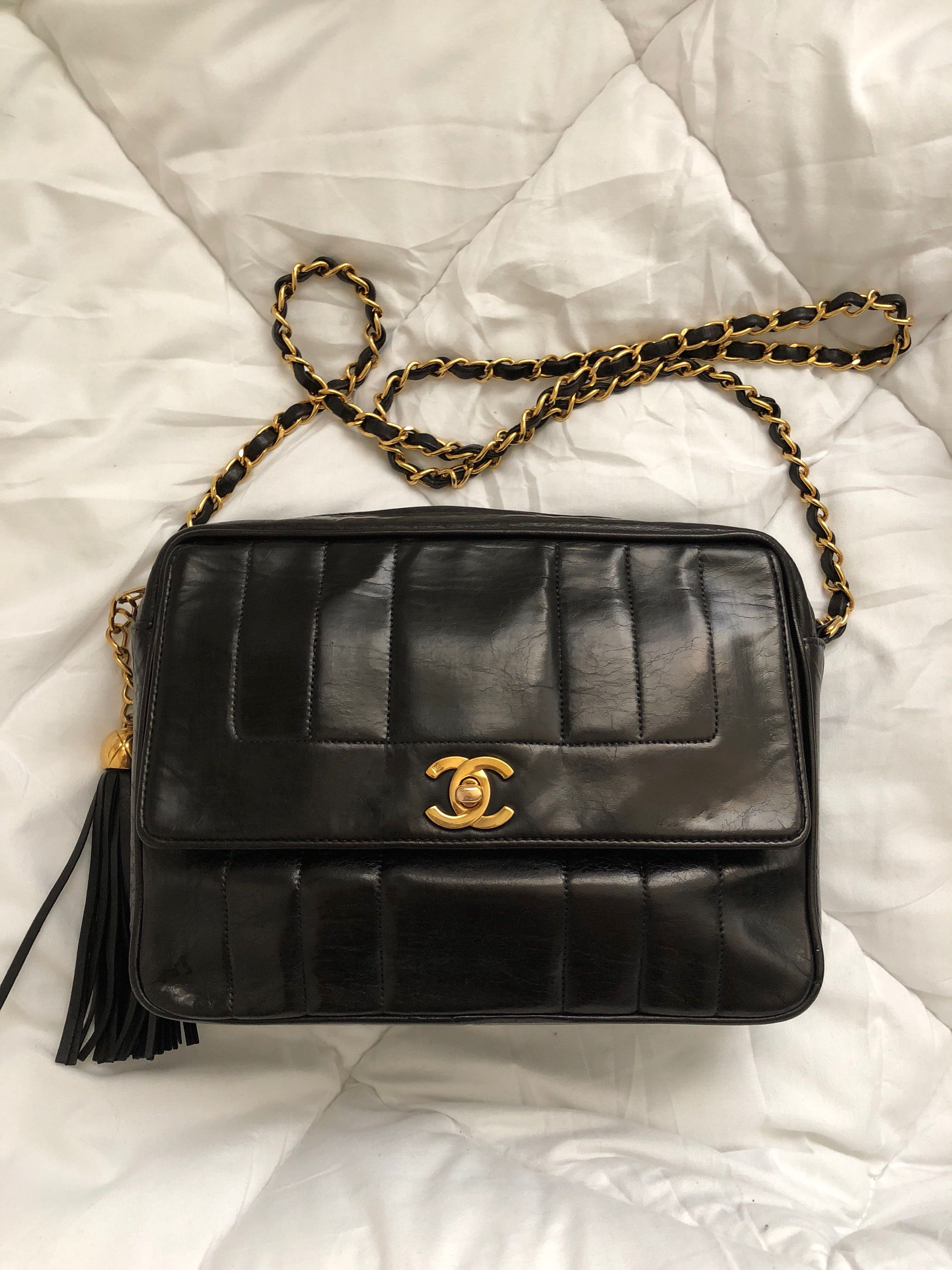 ab33609f0e1a Chanel Vertical Quilted Camera Bag - Vintage, Luxury, Bags & Wallets ...
