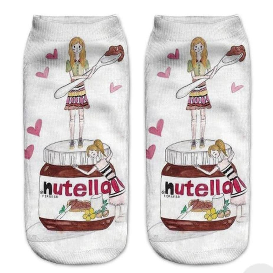 Cute Nutella Ankle Socks