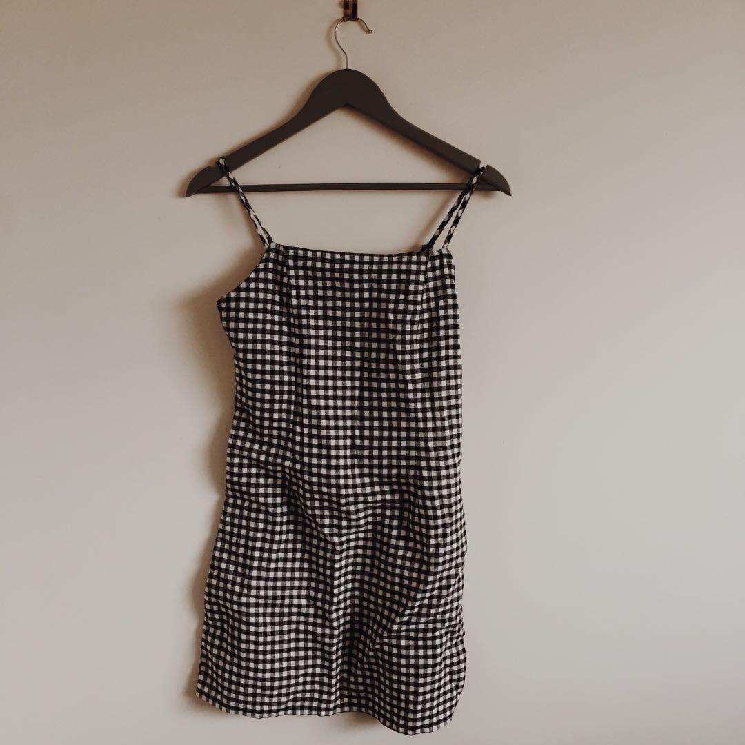 Gingham pattern dress