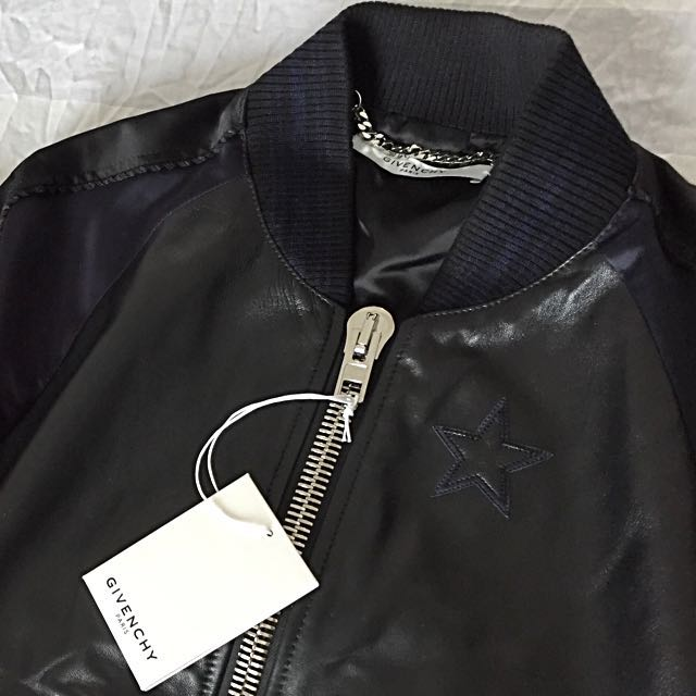 7e47d2437 Givenchy Leather and Satin Bomber Jacket