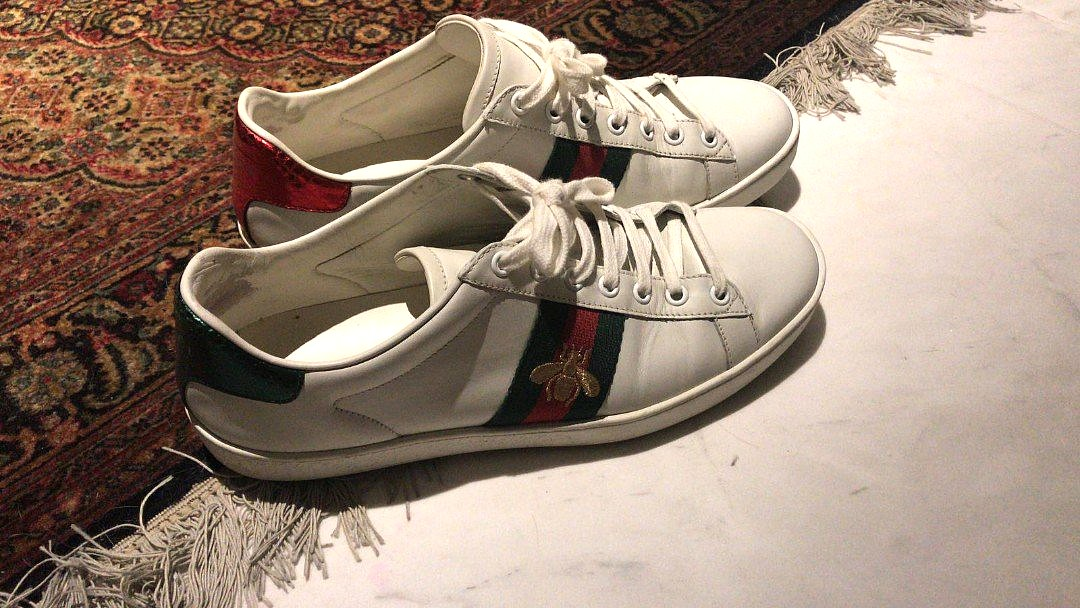 9185f43a506 Authentic Gucci Ace Bee Sneakers (mens)