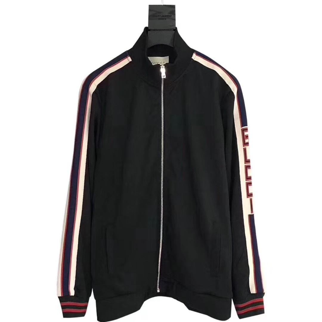 a4ba4aaf715c Gucci Striped Logo Zipper Jacket