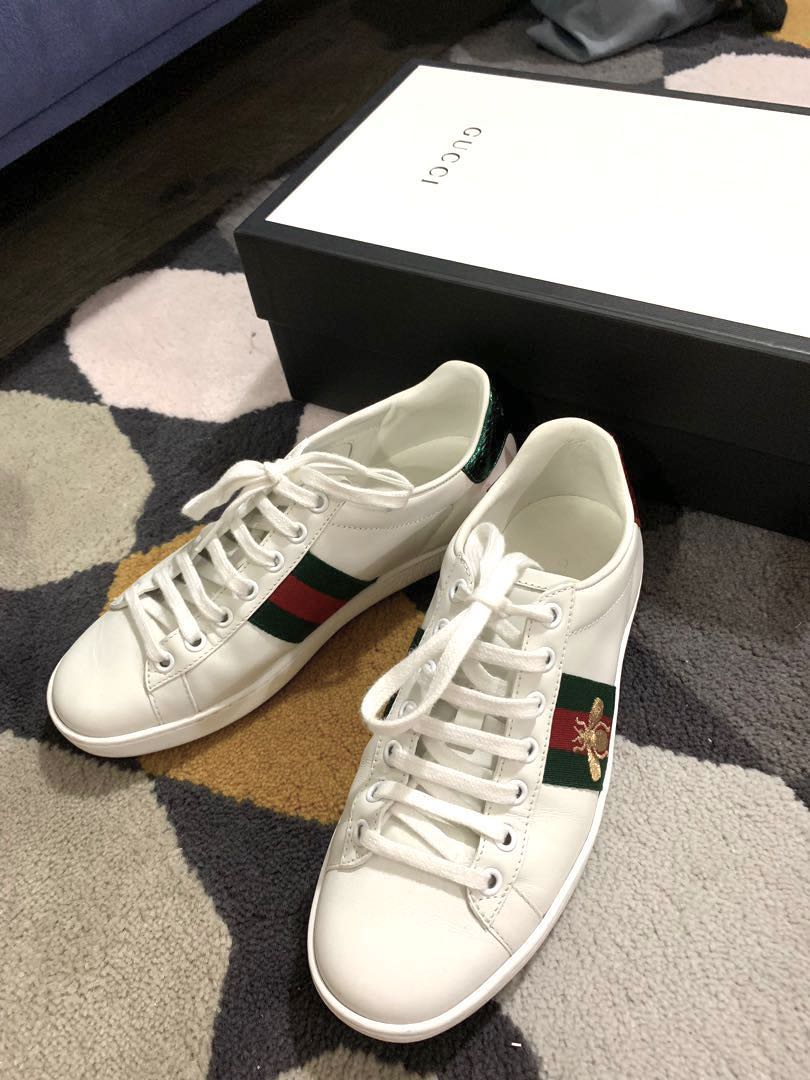 b742b7ac076 Gucci White Bee Ace Sneakers authentic