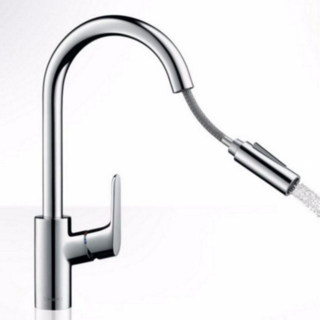 Hansgrohe 31815000 Focus Single Lever Kitchen Mixer 240 With