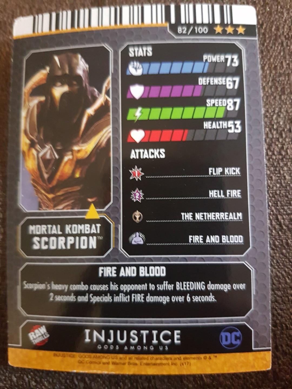 Injustice Arcade Mortal Kombat Scorpion (Gold), Everything