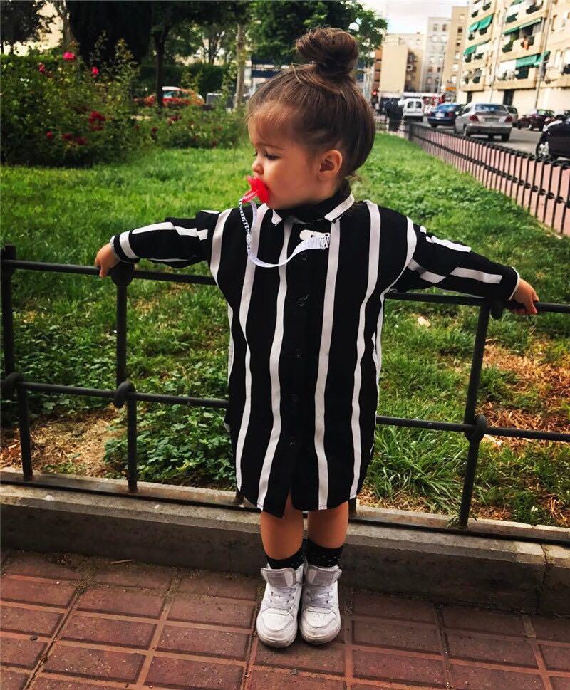 fb4727578 Instock - black white stripe dress