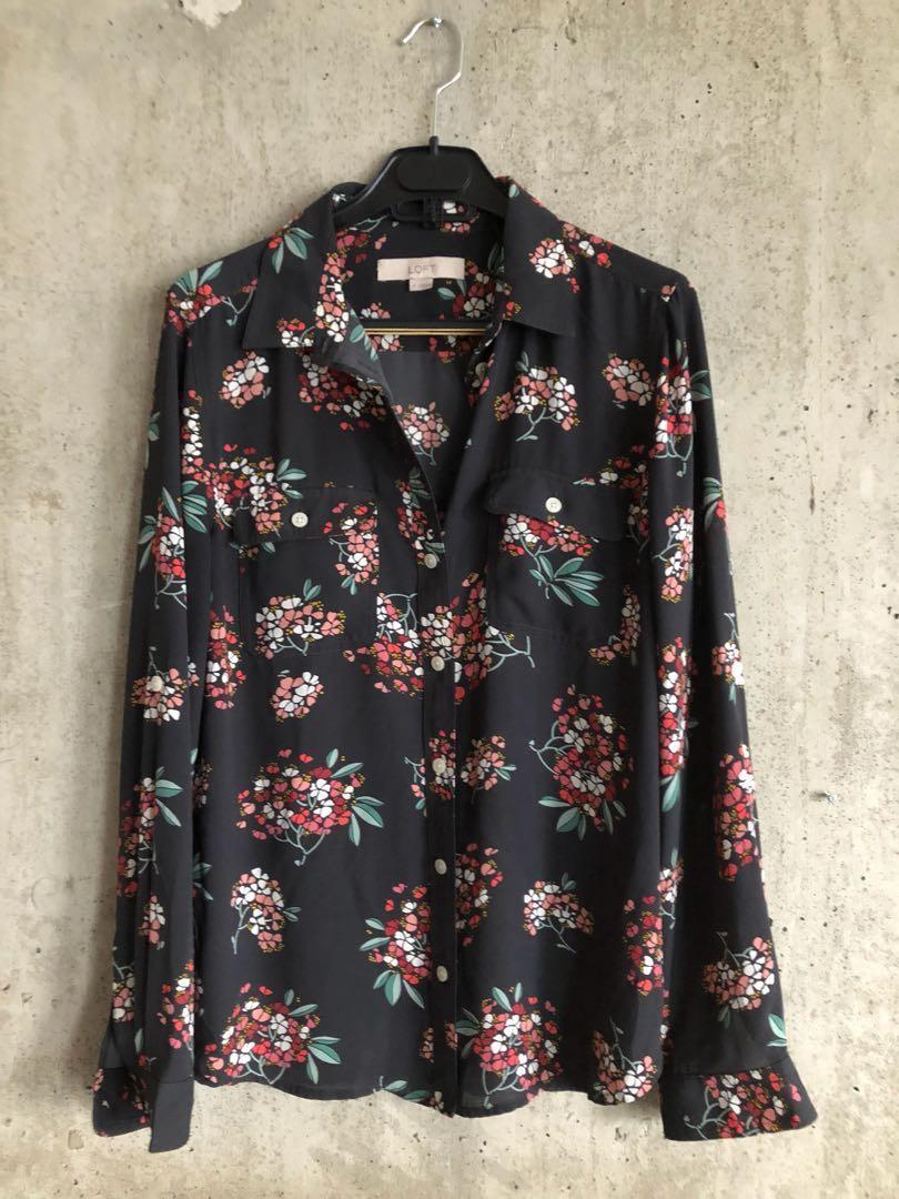 Loft floral shirt