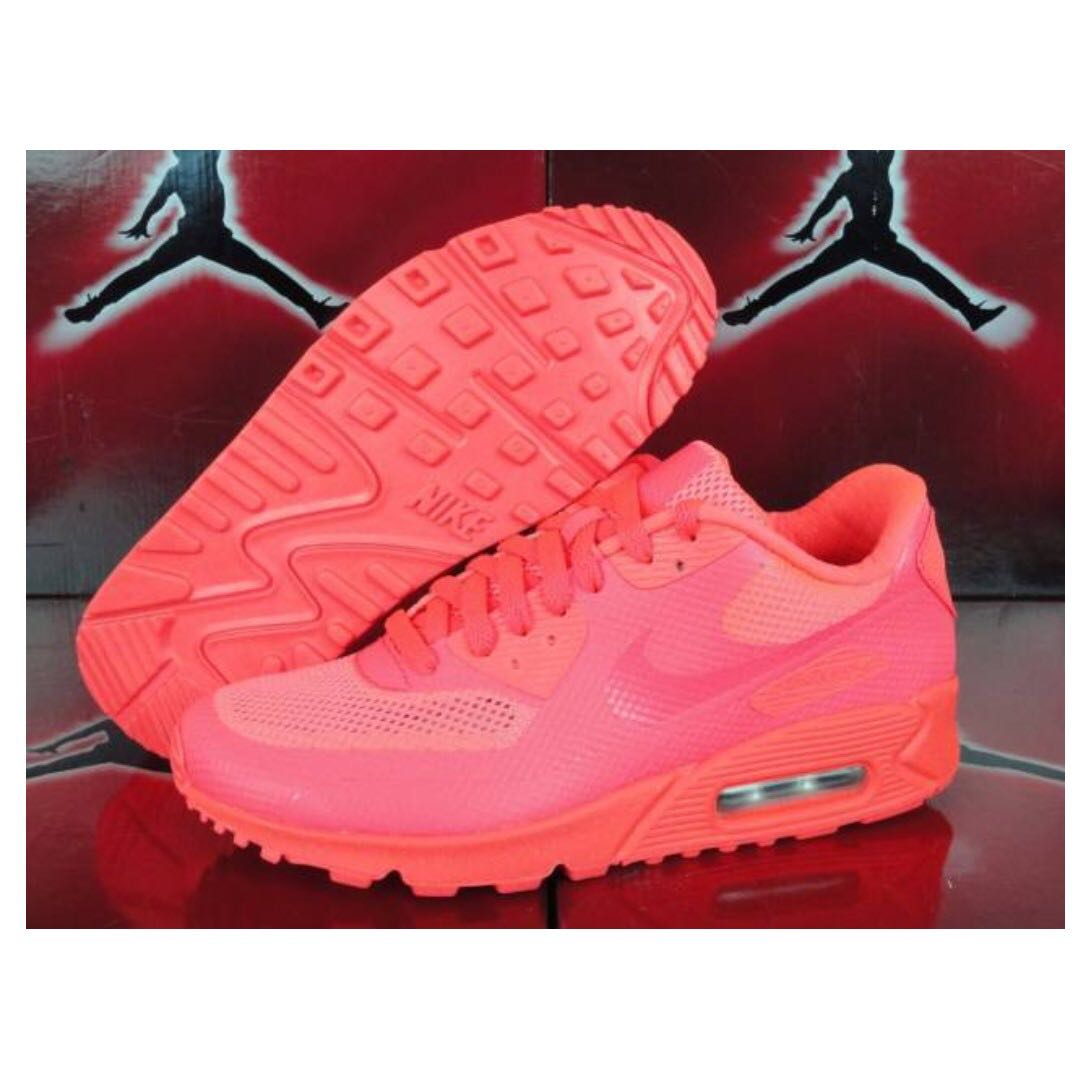 0f8e9497 Nike Air Max 90 Hyperfuse PRM (Solar Red), Men's Fashion, Footwear,  Sneakers on Carousell