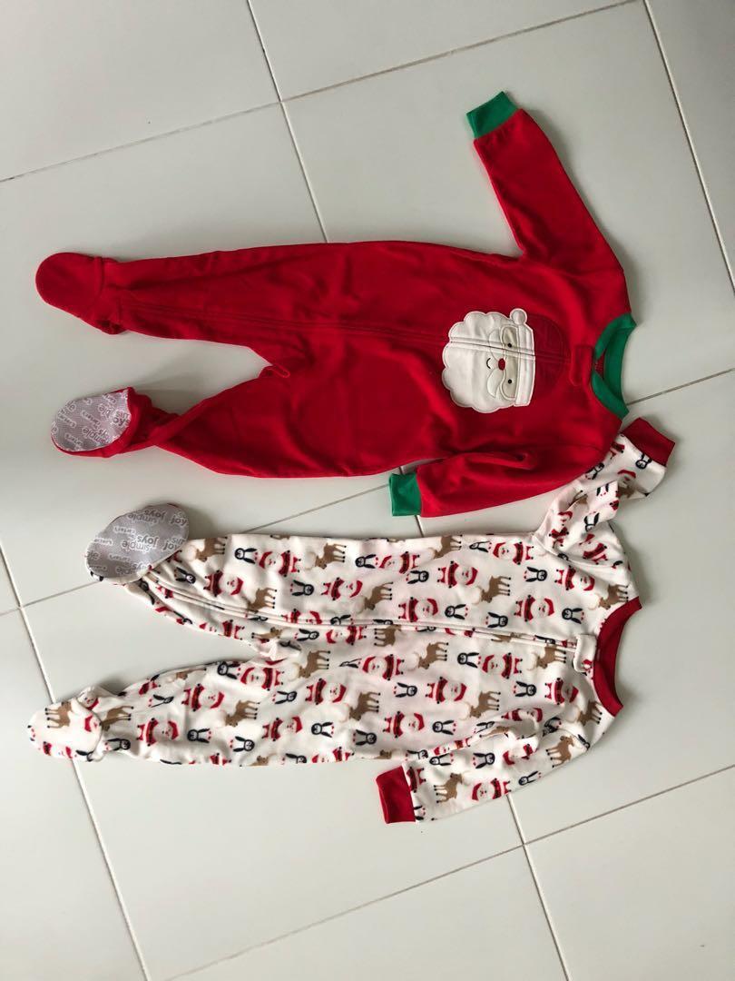 Christmas Fleece.Oshkosh Christmas Fleece Pajamas