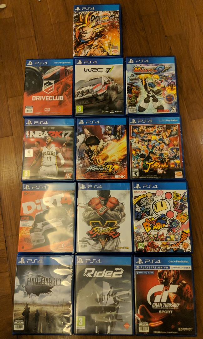PS4 Games for Sale (Title refer to list)