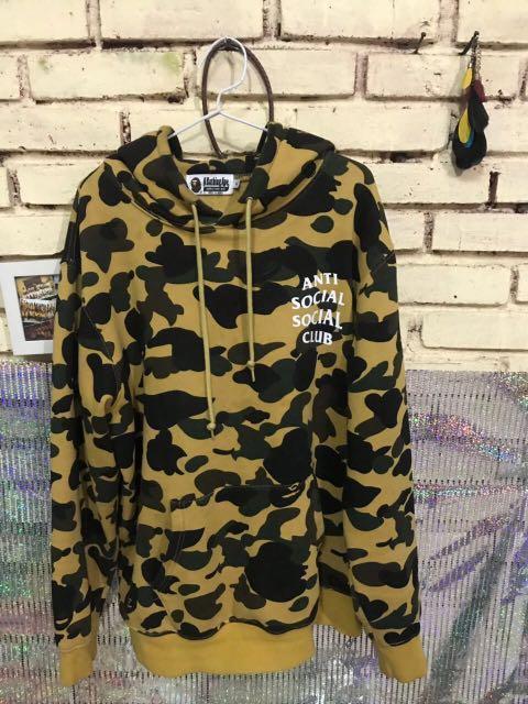 d61fce237ddb Reprice) Bape x assc yellow camo hoodie