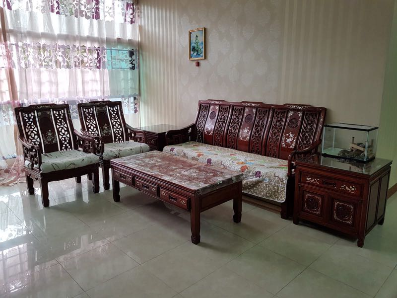 Rose Wood Sofa Set Furniture Sofas On Carousell