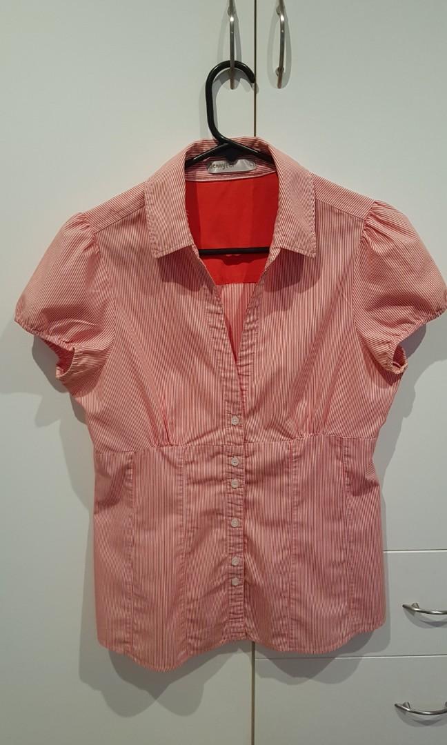 Salmon pink business shirt / blouse