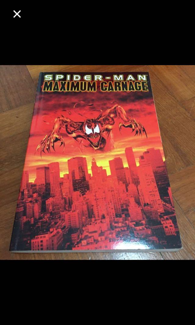 Spider Man Maximum Carnage Books Stationery Comics Manga On