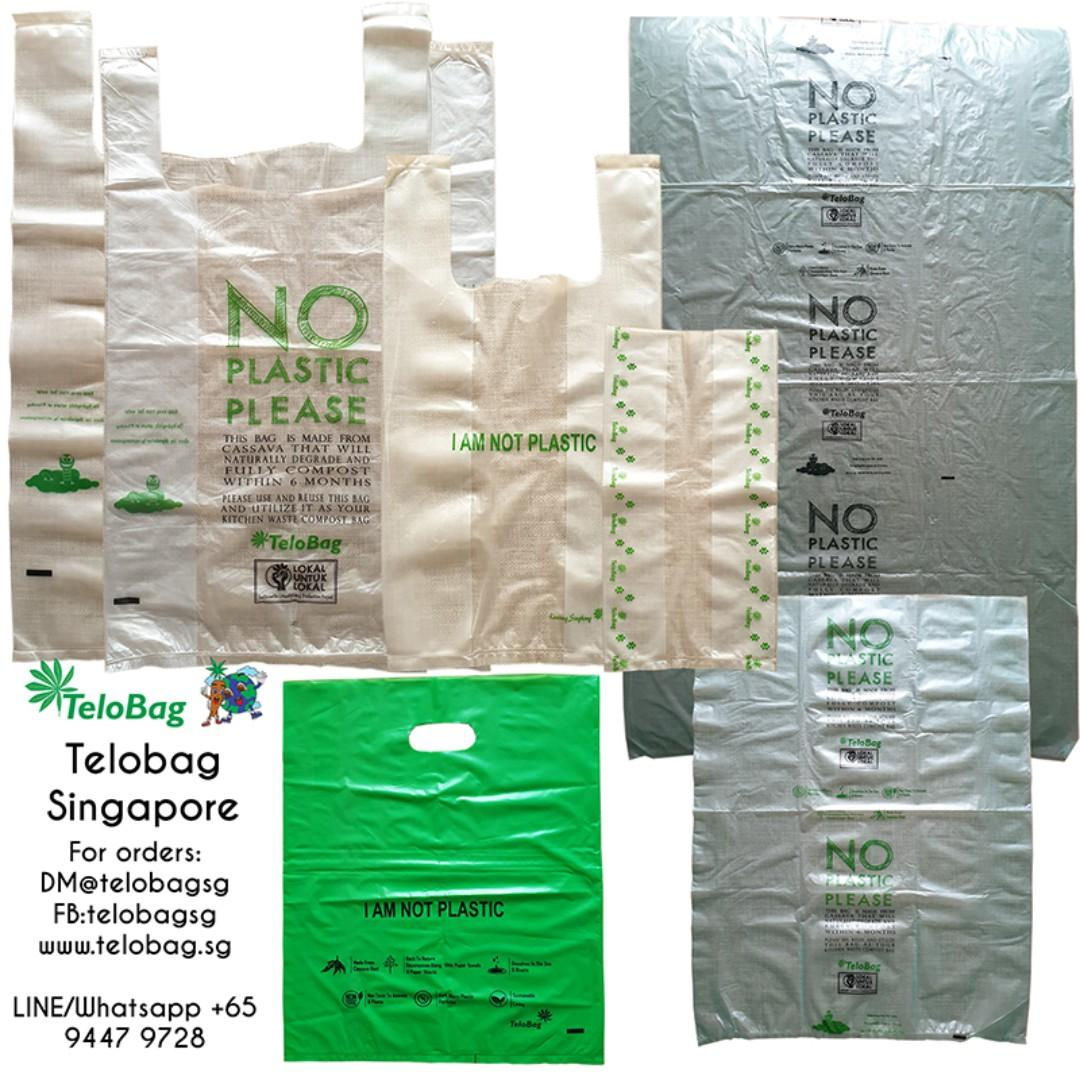 TeloBag 100% Plastic Free Grocery/T-Shirt M Size Cassava Bag