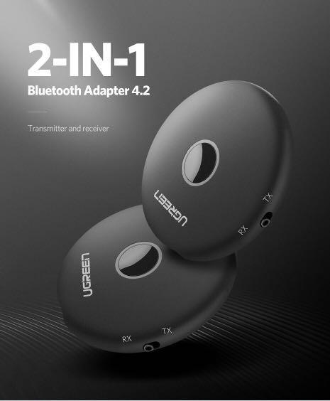 Ugreen Bluetooth Transmitter 4.2 3.5mm APTX Bluetooth Adapter