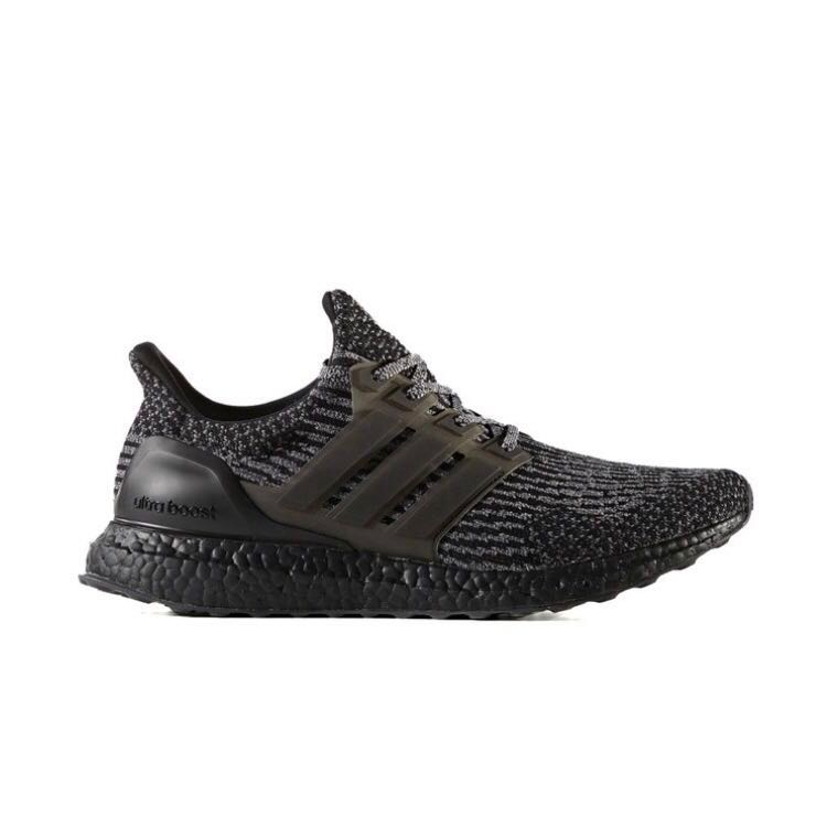 fb693d1acc486 Ultra Boost 3.0 Triple Black Silver US8.5