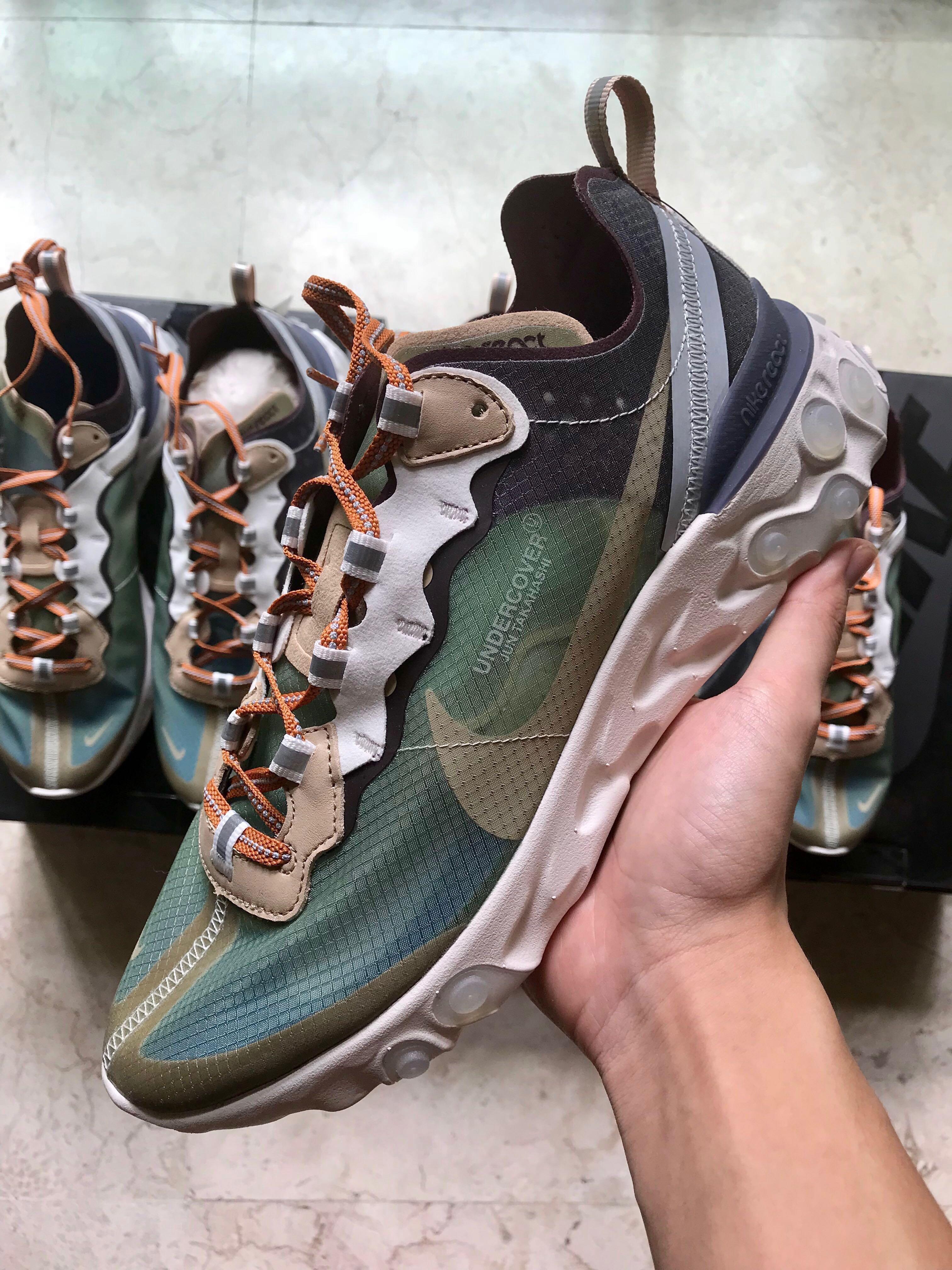 "sale retailer 489a8 9b219 Undercover x Nike React Element 87 ""Green Mist"", Men s Fashion, Footwear,  Sneakers on Carousell"