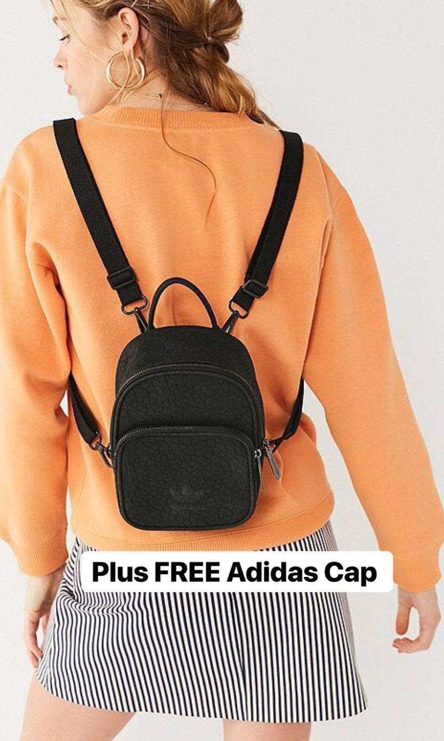 94a69ad0cf6 UO adidas Originals Classic Mini Faux Leather Backpack + FREE ADIDAS ...