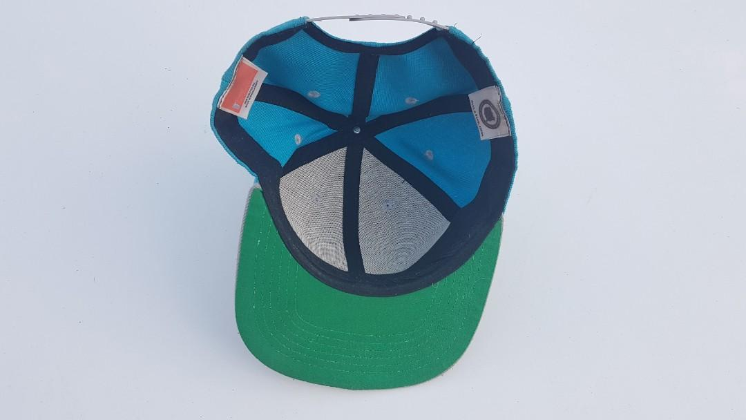 Vintage 90s Anaheim Mighty Ducks NFL Snapback Logo Hat Cap, RARE Disney Blue FREE POST
