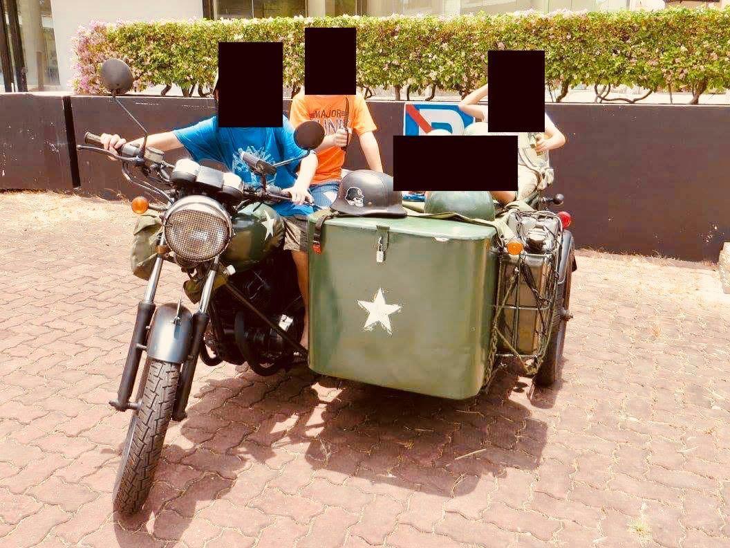 Vintage War Bike Sidecar For Sale