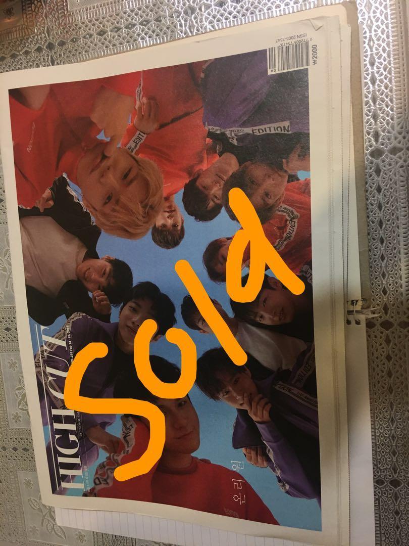 Wanna One- High Cut Magazine (Feb issue)