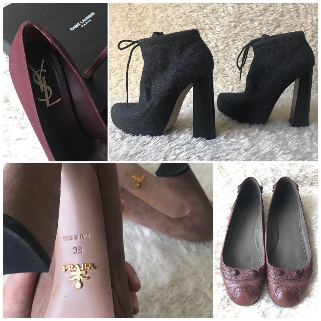 e4ed1c6476c YSL Prada Balenciaga Alexander Wang — Designer Heels Authentic ...