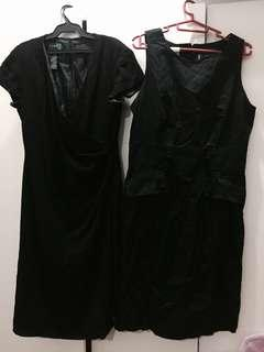 Branded (Ralph Lauren & Anne Klein) Formal Black Dresses Bundle!
