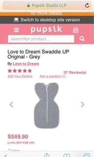 🚚 Love to dream swaddle size s