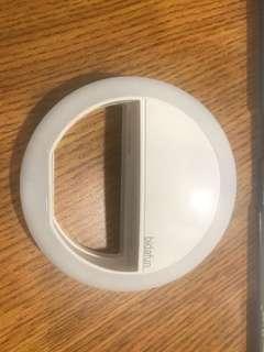 Adjustable selfie ring light