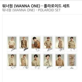 WTS W1 official OTW polaroid set