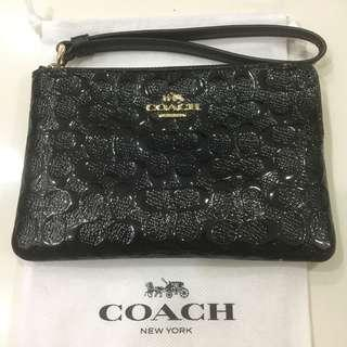 Authentic Brand New Coach Genuine Leather Wristlet Bag/Wallet/Purse - Bought Direct from Coach