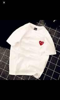 inspired cdg tee shirt