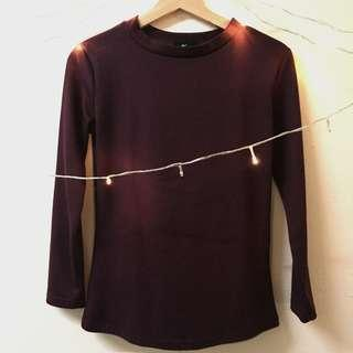 Fit Long Shirt : Maroon
