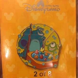怪獸公司 毛毛 大眼仔 jumbo 迪士尼 襟章 徽章 Disney pin Disneyland pins
