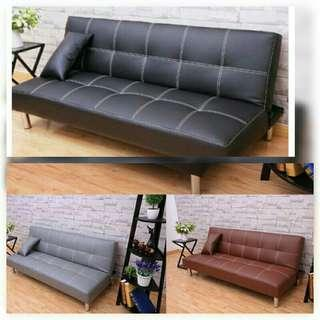 Sofa Bed leather INSTOCK!
