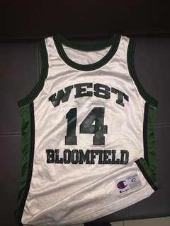 Lakers West Bloomfield Champion Jersey Authentic