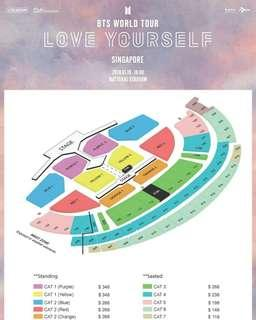 WTB/LF BTS love yourself in singapore