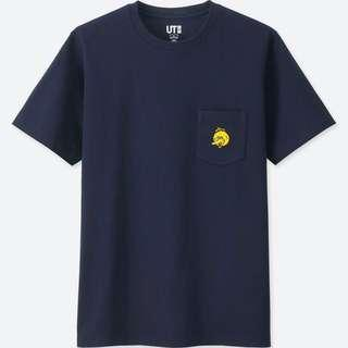 Uniqlo x Kaws Sesame Street Big Bird Tee Shirt in Navy