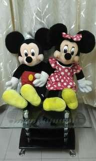 Vintage Mickey and Minnie Mouse