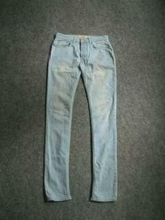 TOPMAN Button-fly Washed Blue Jeans Size 30