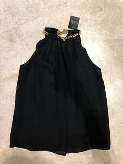 New MDS halter neck top with chain in black for sale !