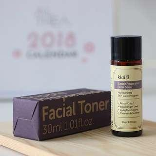 READY STOCKS | Klairs Supple Preparation Facial Toner Miniature Travel Size