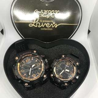 Rose gold couple watch
