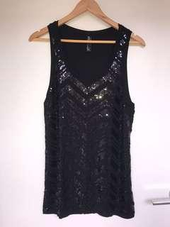 Edited sequin tank top size 14