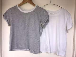 2x supre cropped tees size M (fits smaller sizes nicely too)