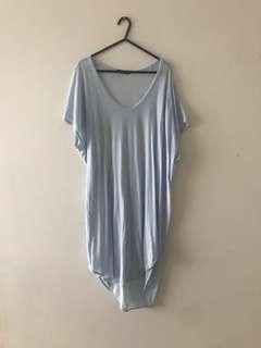 Bassike boxy t shirt dress with tail