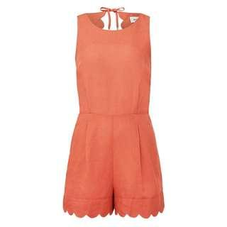 FREE SHIPPING Seed Scallop Edge Romper