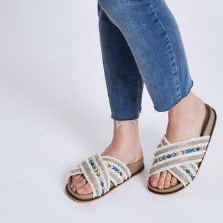River island strap mules sandals